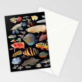 Freshwater tropical fish Stationery Cards
