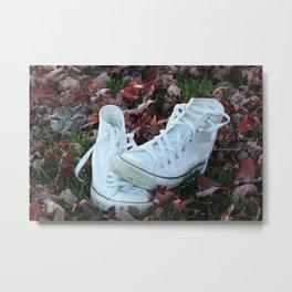 Abandoned Converse Metal Print