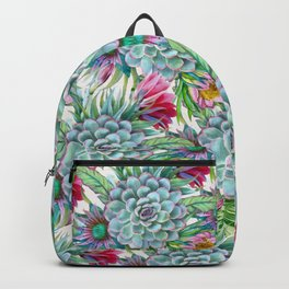 Exotic flower garden Backpack