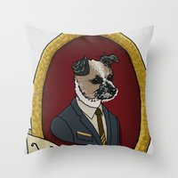 charlie Throw Pillows featuring Charlie by Kyle Hurley
