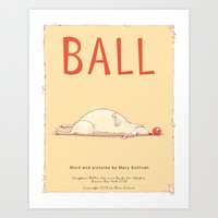dragon ball Art Prints featuring Ball by Mary Sullivan