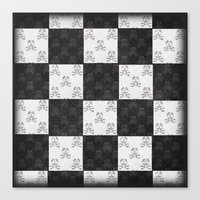 chess Canvas Prints featuring Chess by FYLLAYTA, surface design,Tina Olsson