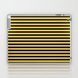 Even Horizontal Stripes, Yellow and Black, S Laptop & iPad Skin