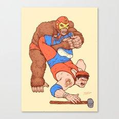 Gorilla Clutch Canvas Print