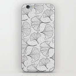grid in black and petals iPhone Skin