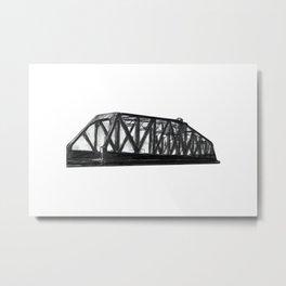 CANADIAN NATIONAL RAILWAY PIVOTING BRIDGE Metal Print