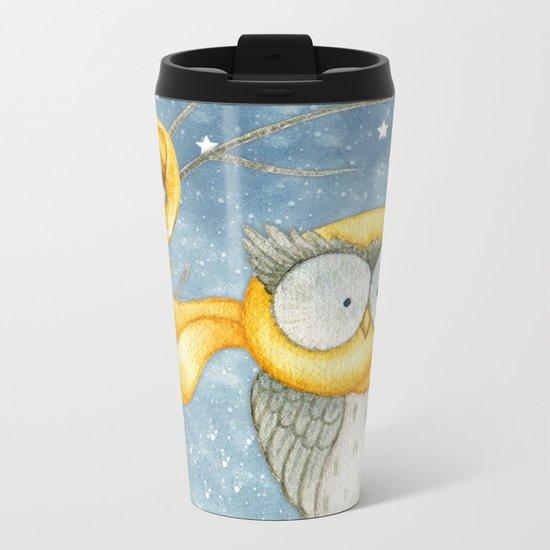Winter animal #8 Metal Travel Mug