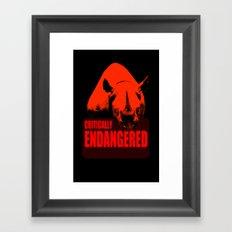 Critically Endangered Black Rhino Framed Art Print
