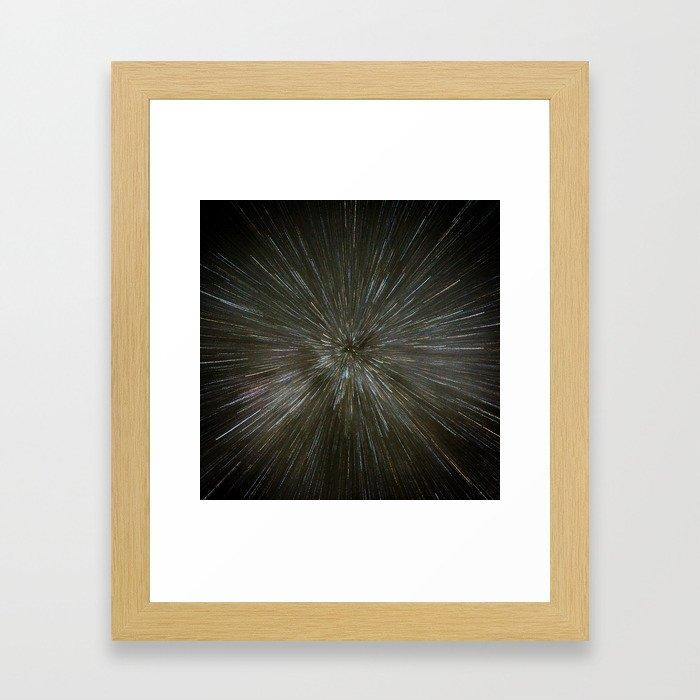zooming towards stars Framed Art Print