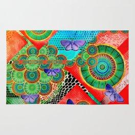 Abstract colorful mandala experiment Rug
