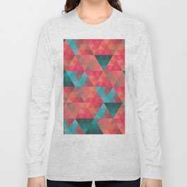 Abstract Geometric Pattern colorful triangles abstract art Long Sleeve T-shirt