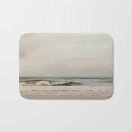 Cloudy Daydreaming by the Sea Bath Mat
