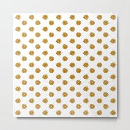 Yellow flowers on white Metal Print
