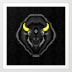 Geometric Bison Art Print