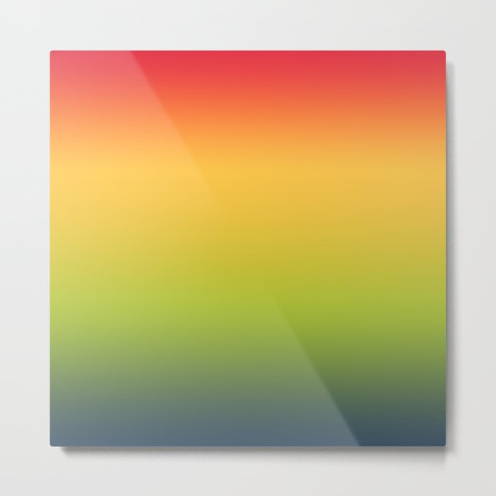 Abstract Colorful Tropical Blurred Gradient Metal Print