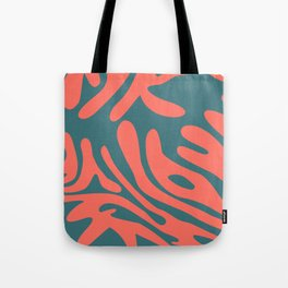 Living Coral in the Deep Sea - Pantone Color Trend 2019 Tote Bag