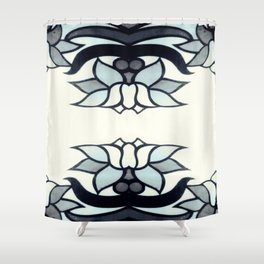 Retro Lotus  Shower Curtain