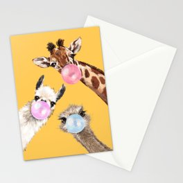 Bubble Gum Gang in Yellow Stationery Cards