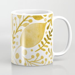 Branches and leaves - yellow Coffee Mug