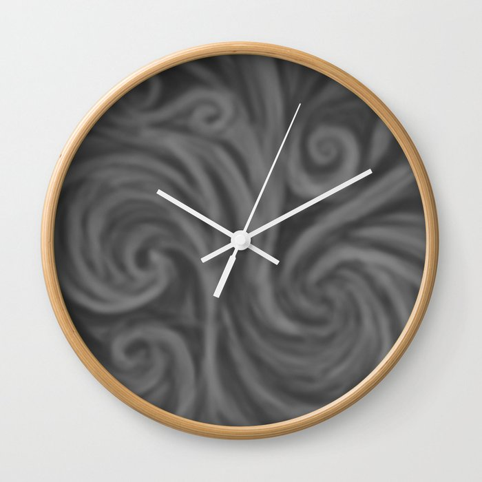 Dark Gray Swirl Wall Clock