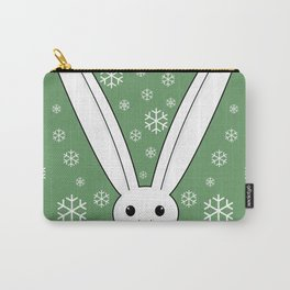 Snow bunny and snowflakes Carry-All Pouch