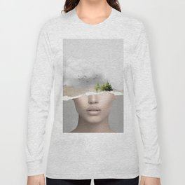 minimal collage /silence2 Long Sleeve T-shirt