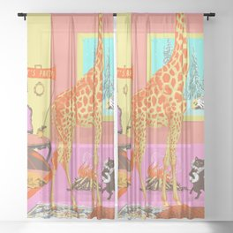 LET'S PARTY! Sheer Curtain