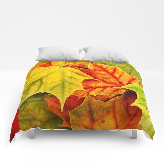 Color Leaves Comforters