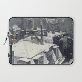 Gustave Caillebotte - Rooftops in the Snow Laptop Sleeve