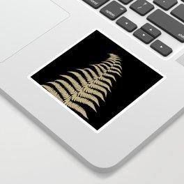 Fern Leaf Gold on Black #1 #ornamental #decor #art #society6 Sticker