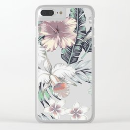 TROPICAL BEAUTY Clear iPhone Case