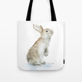 Bunny Rabbit Watercolor Tote Bag
