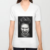 cracked V-neck T-shirts featuring Cracked by Shannon Toohey