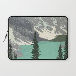 Moraine Lake Poster Laptop Sleeve