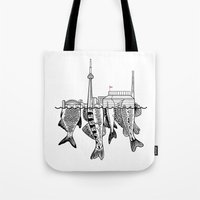 toronto Tote Bags featuring Toronto by CAB Architects