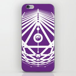 Radiant Abundance (white-purple) iPhone Skin