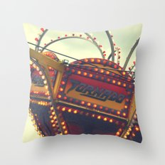 Vintage Carnival ~ The Tornado Throw Pillow