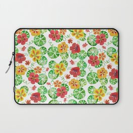 Watercolor Nasturtiums Laptop Sleeve