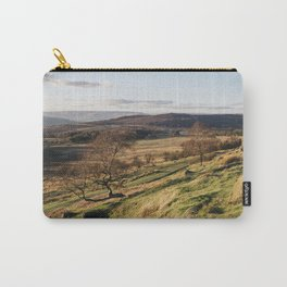Trees on a hillside at sunset. Upper Padley, Derbyshire, UK. Carry-All Pouch
