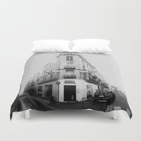 france Duvet Covers featuring Monochrome France by MarioGuti