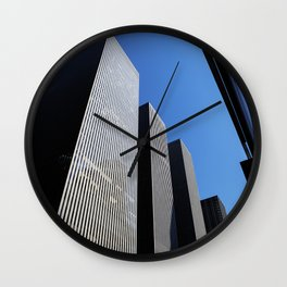 New York boxes Wall Clock