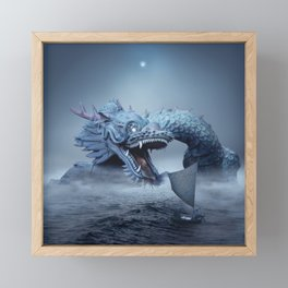 Sea dragon Framed Mini Art Print