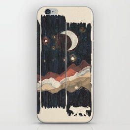A Starry Night in the Mountains... iPhone Skin