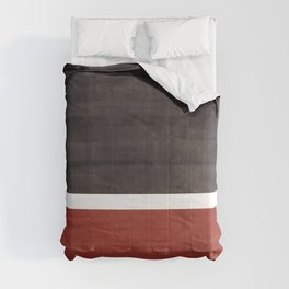 Colorful Bright Minimalist Rothko Color Field Midcentury Modern Brown Black Square Vintage Pop Art Comforters