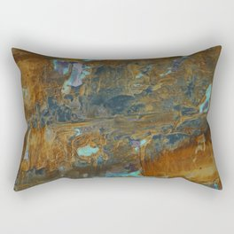 Blue Lagoons in Rusty World Rectangular Pillow