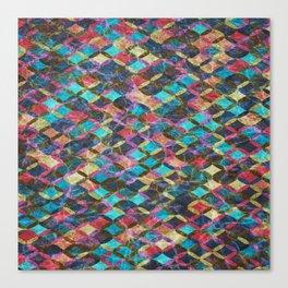 Colorful Geometric Pattern #08 Canvas Print