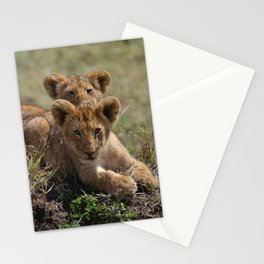 Two lion Clubs At Play Stationery Cards