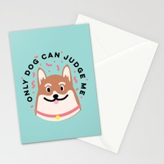Only Dog Can Judge Me Corgi Stationery Cards