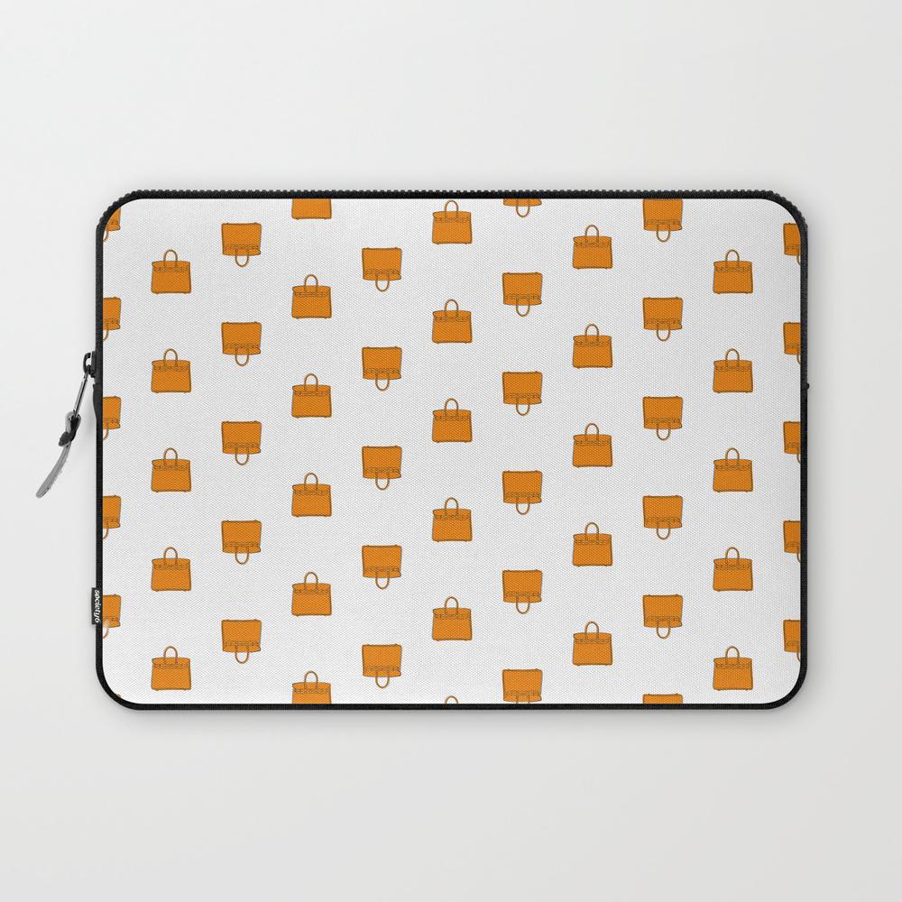 Orange Birkin Vibes High Fashion Purse Illustratio... Laptop Sleeve (LSV8661551) photo