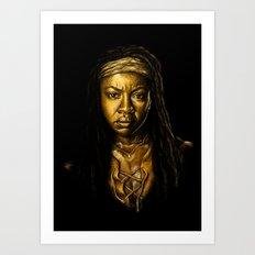 Michonne Golden Art Print